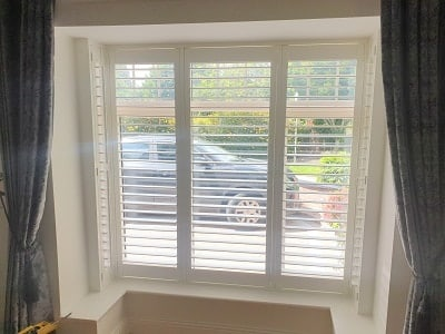 Bay Window Shutter installed in Lucan, Dublin.