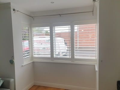 Shutters with L-Type frames fitted in Malahide, Dublin
