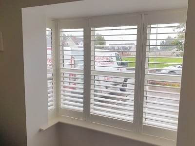 Silk White Shutters installed in Allenwood, Kildare.