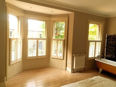 Cafe Style Plantation Shutters installed in Drumcondra, Dublin 9.