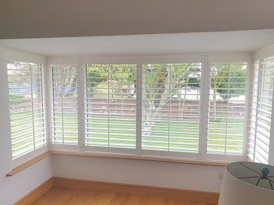 Large Bay window fitted with Titan Shutter in Dublin.