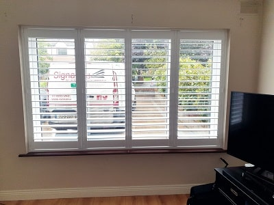 White Plantation Shutter fitted in Ballinteer, Co Dublin