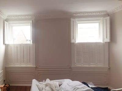 Weston Tier on Tier Shutters installed in Rathmines, Dublin 6.