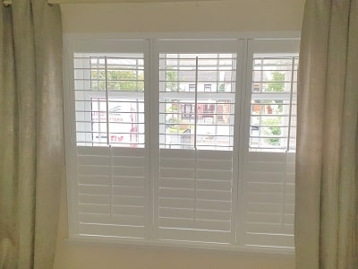 Pure White Plantation Shutters fitted in Ballymun, Dublin 9.