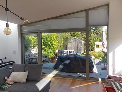 Gable Pleated blinds installed in Raheny, Dublin 5.