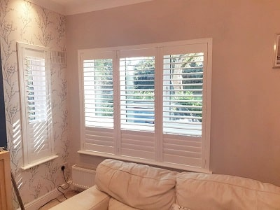 Silk White Plantation Shutters fitted in Beaumont, Dublin 9