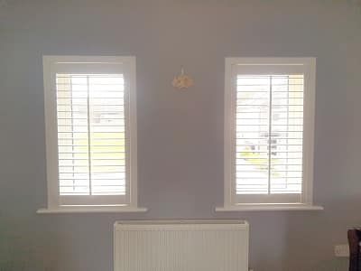 White Plantation Shutters installed in Termonfeckin, Louth.