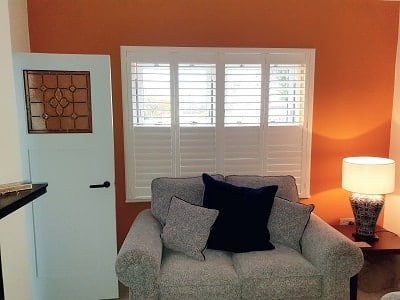 White Plantation Shutters installed in a Cottage in Cloghran, Dublin.