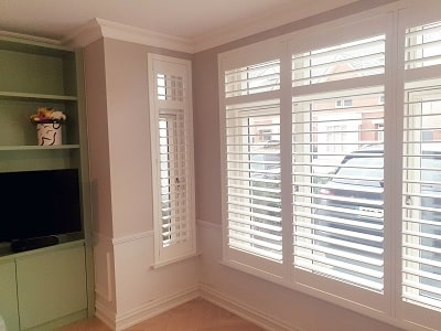 White Titan Shutters fitted in Fairhaven, Castleknock,  Dublin 15.