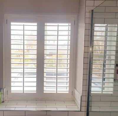 Solidwood and PVC Shutters installed in Sandymount, Dublin.