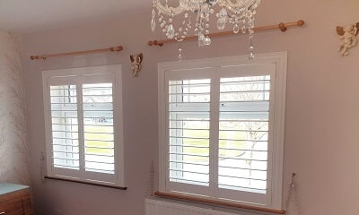 Weston Range Silk White Shutters in Ayrfield, Dublin 13