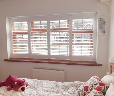 Marchwood Plantation Shutters installed in Swords, Dublin.