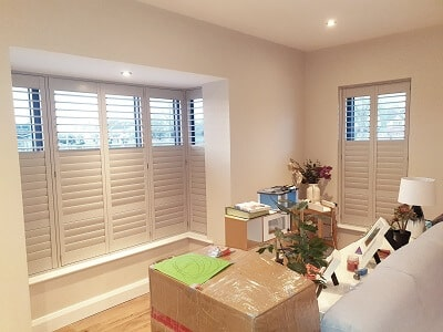 Hall Gray Titan Range Shutters fitted in Castlefield Hall, Clonsilla, D15.