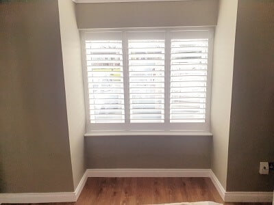 89mm Solidwood Shutters fitted in Clonsilla, Dublin 15.