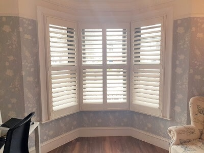 Shutters in Drumcondra made from Wood, PVC and MDF.