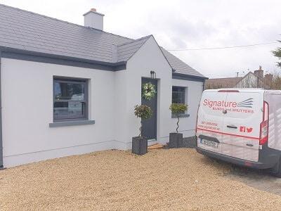 Black Walnut Legacy Shutters installed in Newbridge, Kildare.
