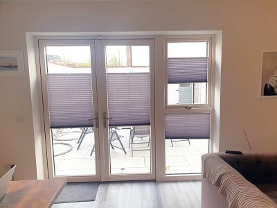 Multi-Functioning Pleated Blinds in Churchfields, Ashbourne, Meath