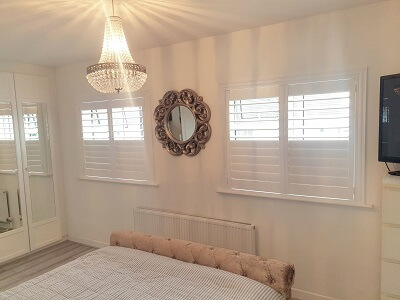 Weston Shutters with Z type frame in Clarehall, Dublin.
