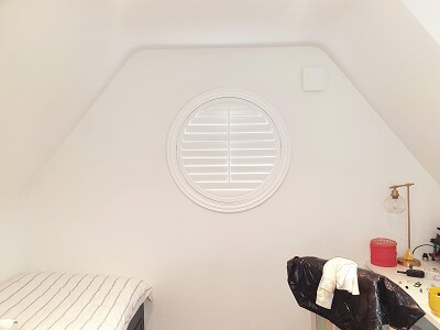 Circular Porthole Shutters installed in Castleknock