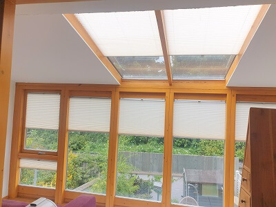 Pleated Window & Roof Blinds installed in Howth, Dublin