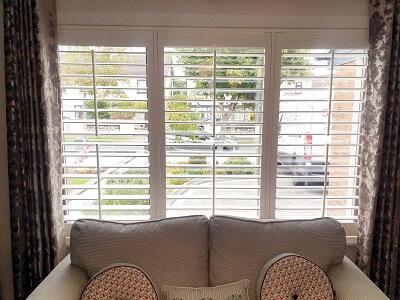Castleknock, Dublin 15. Weston Range White Window Shutters