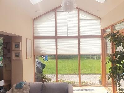 Gable Pleated blinds installed in Cornelscourt, Dublin 5
